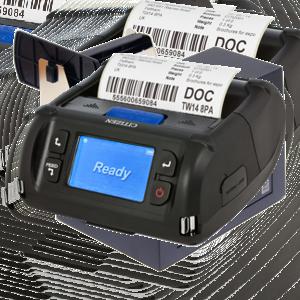 Mobilní tiskárny etiket a čárového kódu